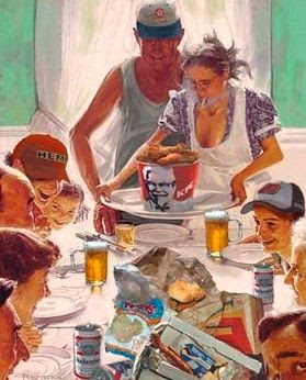 Redneck Thanksgiving - if Norman Rockwell was a redneck