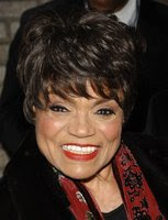 This March 6, 2008 file photo shows actress Eartha Kitt at the Broadhurst Theatre in New York. A family friend says Kitt has died Thursday, Dec. 25, 2008 of colon cancer. She was 81. (AP Photo/Evan Agostini)