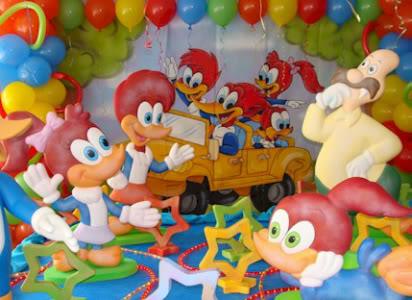 decoração pica pau festa infantil