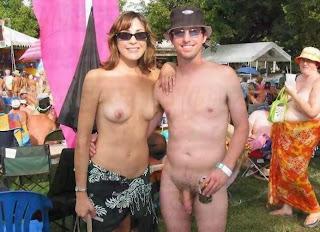 outdoor mature naturist couple
