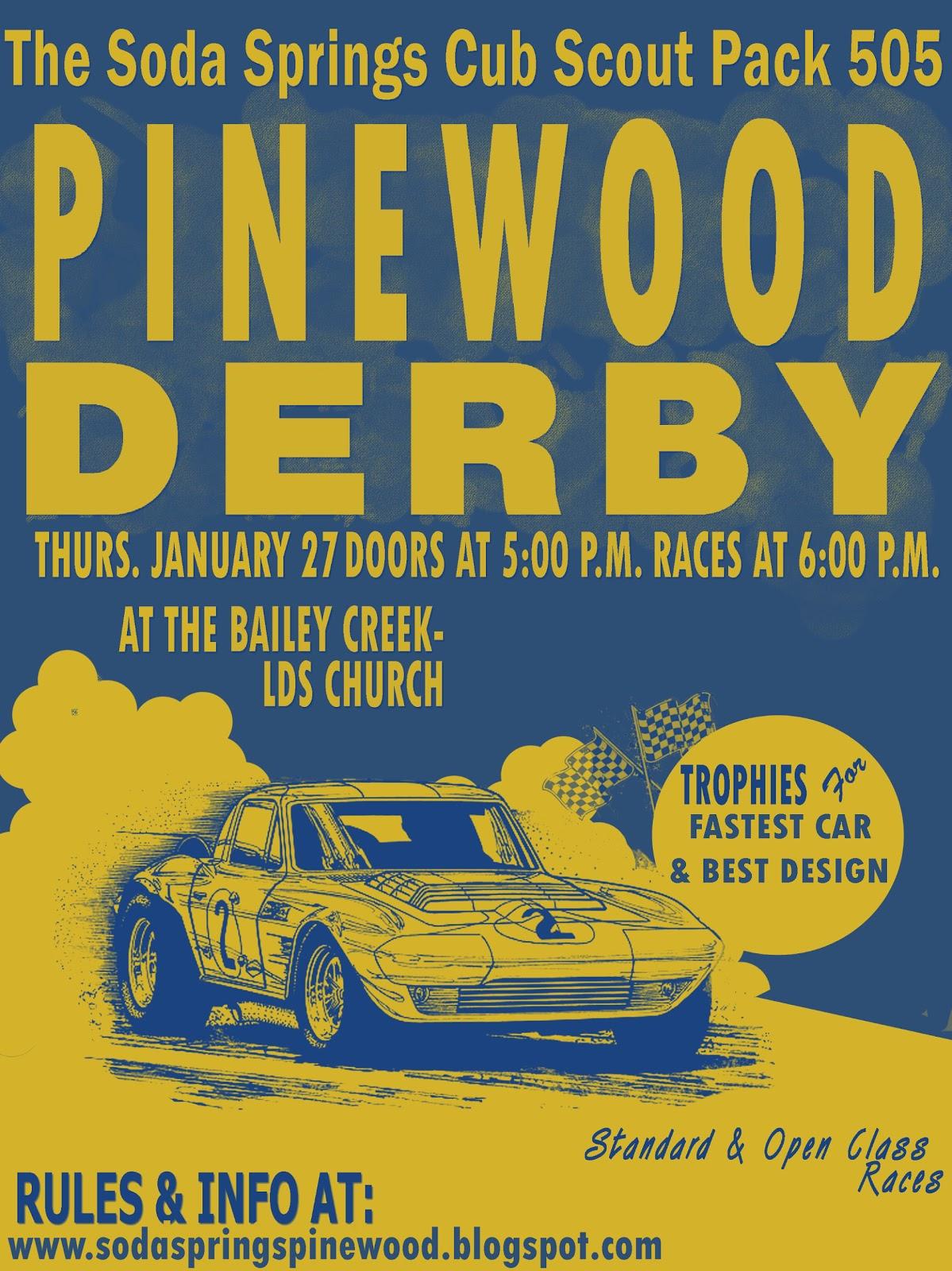 Soda Springs Pinewood Derby P W Derby Flyer