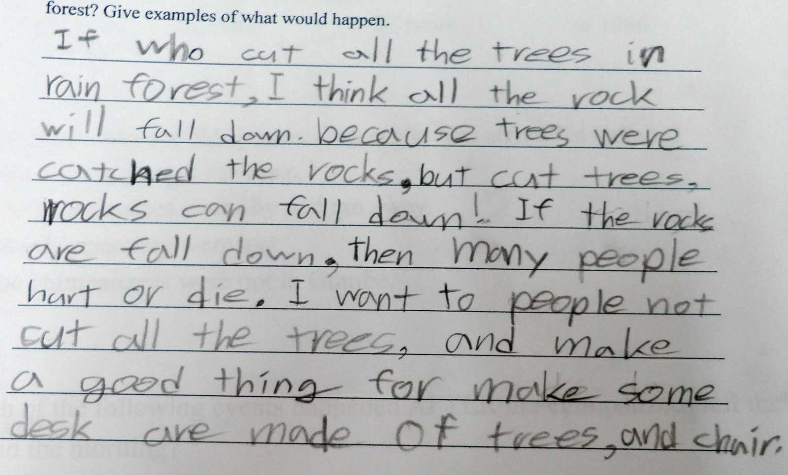 Essay on climate change for kids