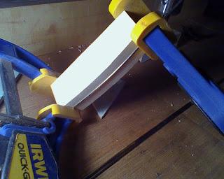 making a guitar fret wire press and bending block. Black Bedroom Furniture Sets. Home Design Ideas
