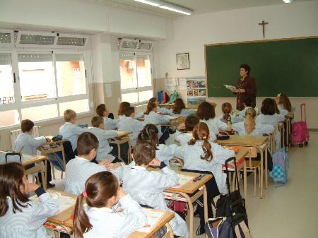 Aula de la educación tradicional