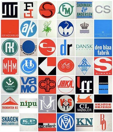 The North Elevation: Scandinavian Mid-Century Design Logos