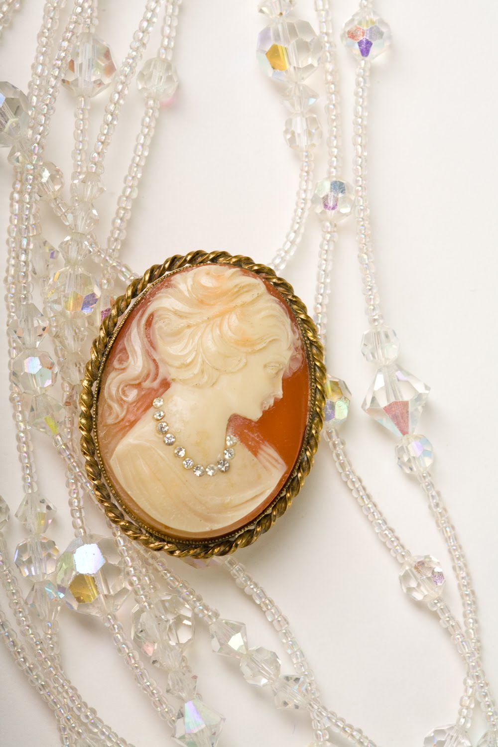 Vintage Miss Julie Collectible Cameos