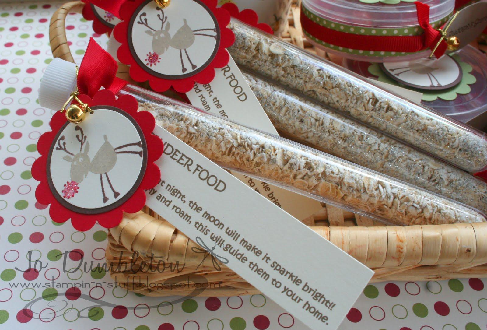 Stampin N Stuff Magic Reindeer Food