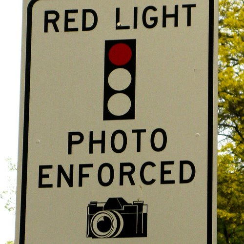 red light photo enforced