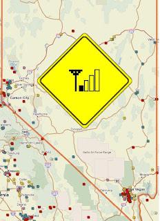 Nevada Deadcellzones.com Map