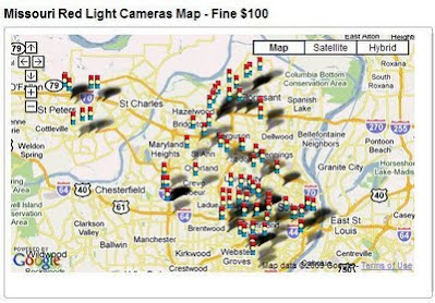 St Louis Red Light Camera Map