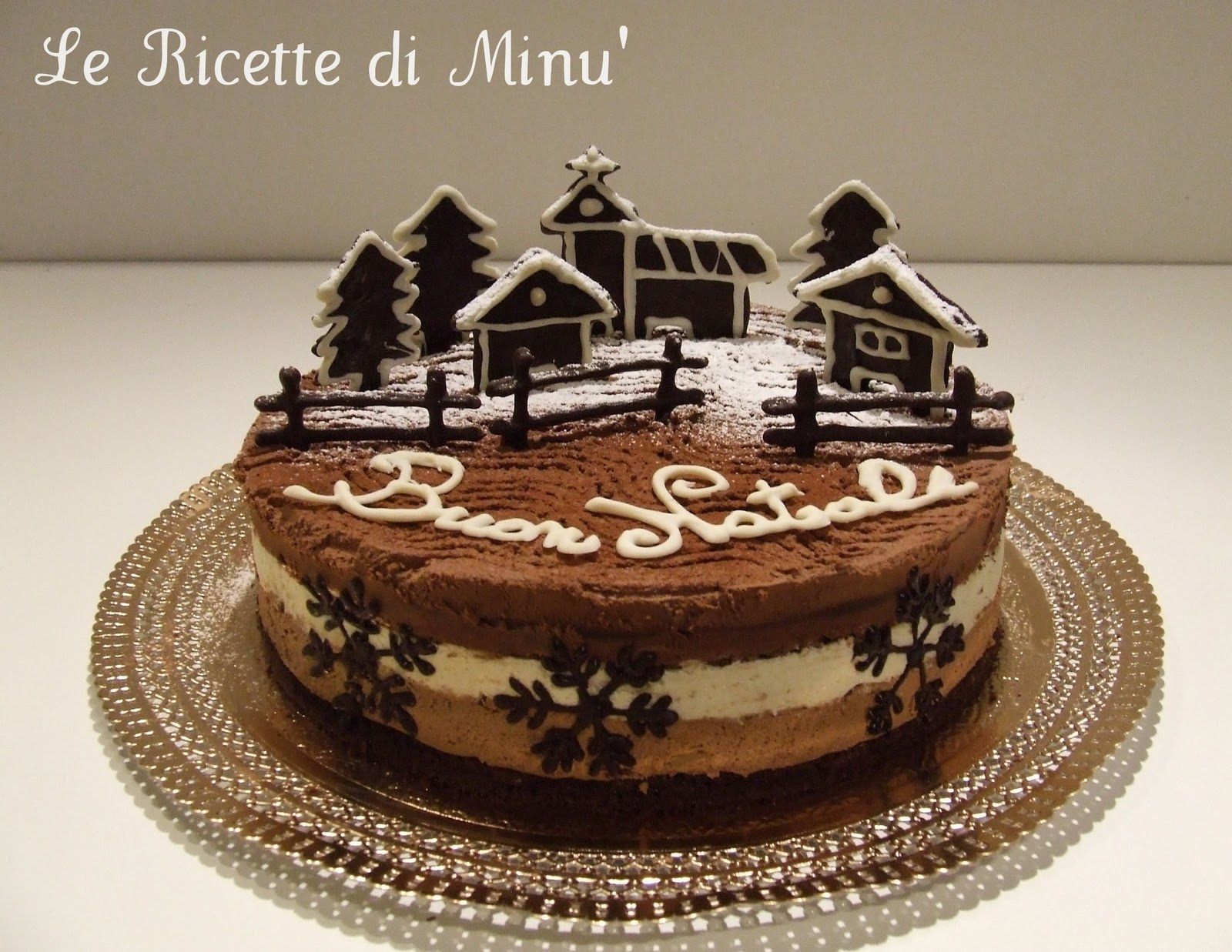Il goloso mondo di minu 39 christmas trimousse - Torte natalizie decorate ...