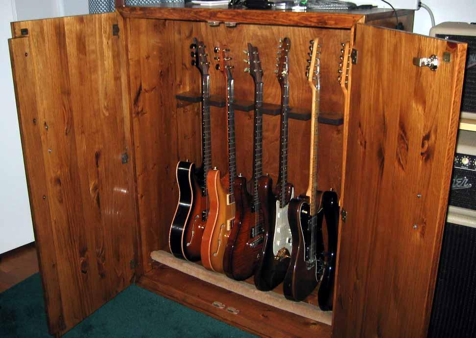 Linha Musica Suportes Guitarras Em Madeira Wood Second