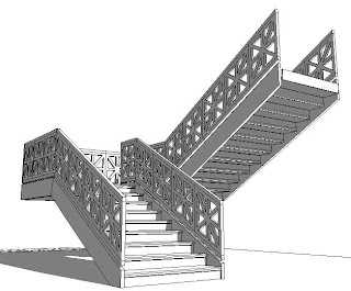 Revit oped railing encore for Escaleras 3d max
