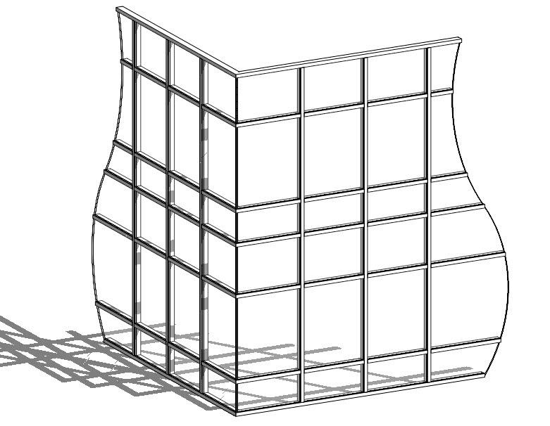 Revit Oped Curtain Wall Corner Butt Glazing Condition