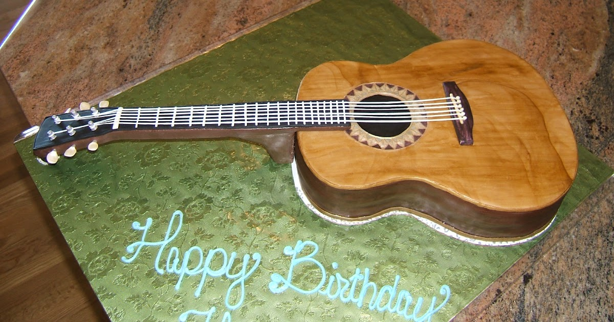 Acoustic Guitar Cake Topper