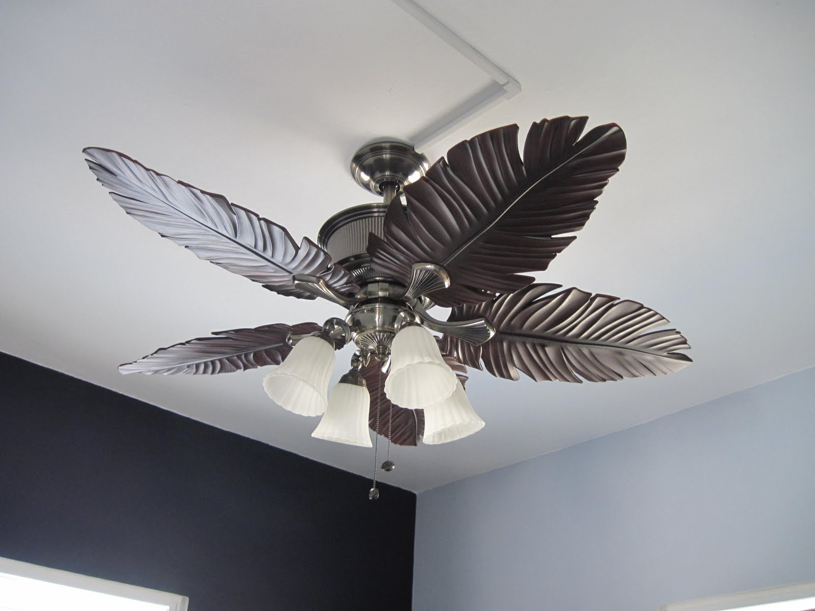 White Tropical Ceiling Fans Winjama Ketchup Part 1