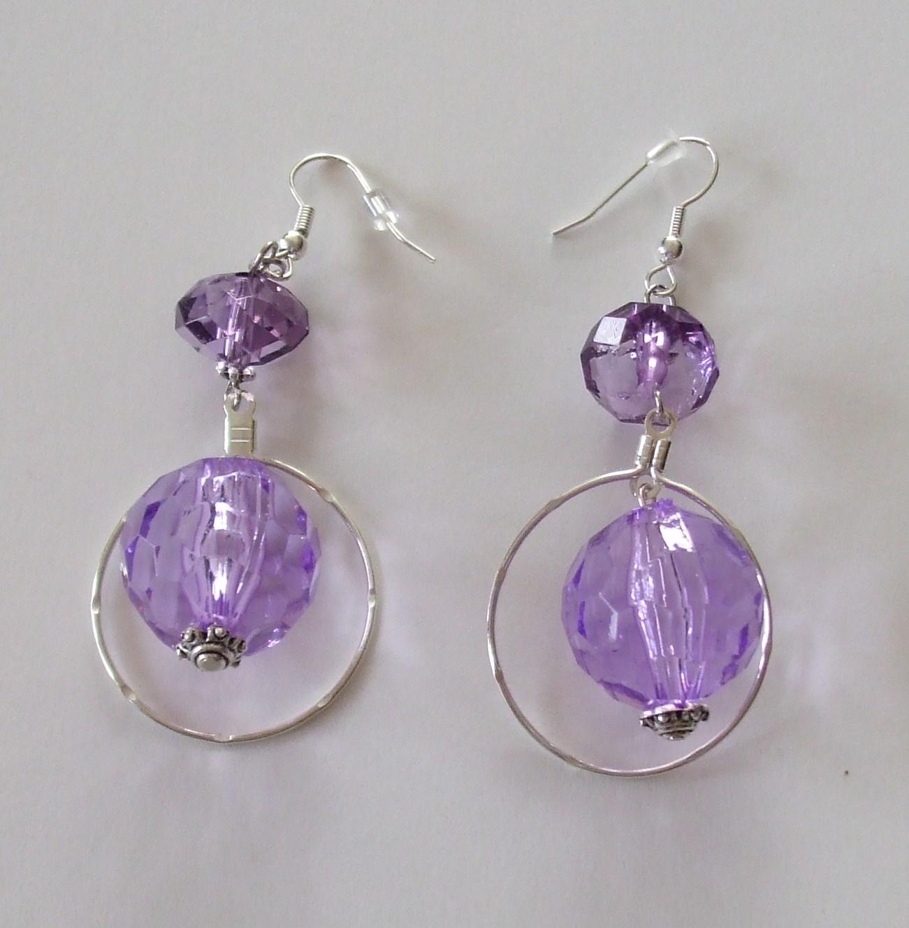 Denise's Beautiful Bling: Purple Earrings