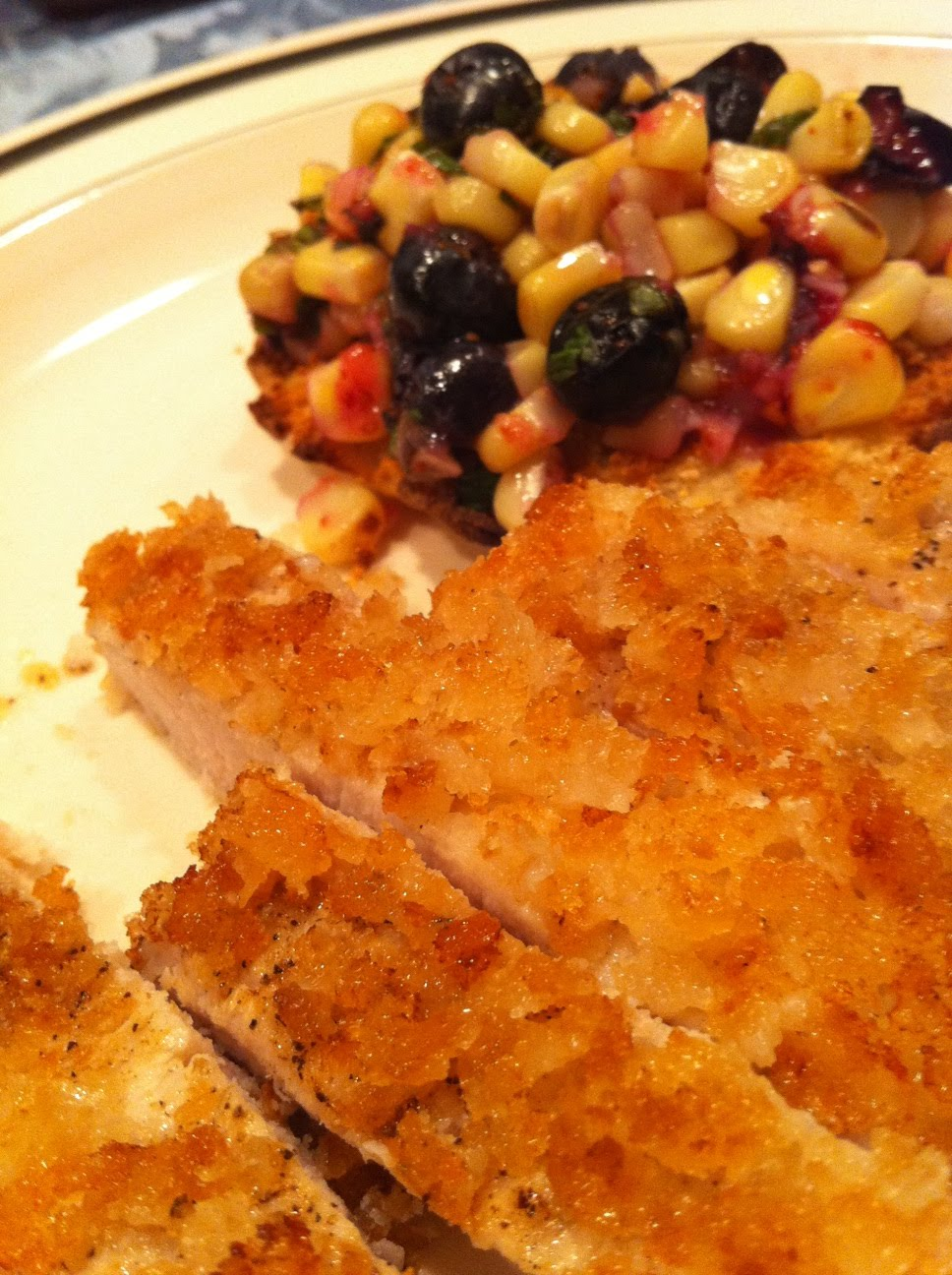 The Foodgitive: Fried Panko Pork and Grilled Corn ...