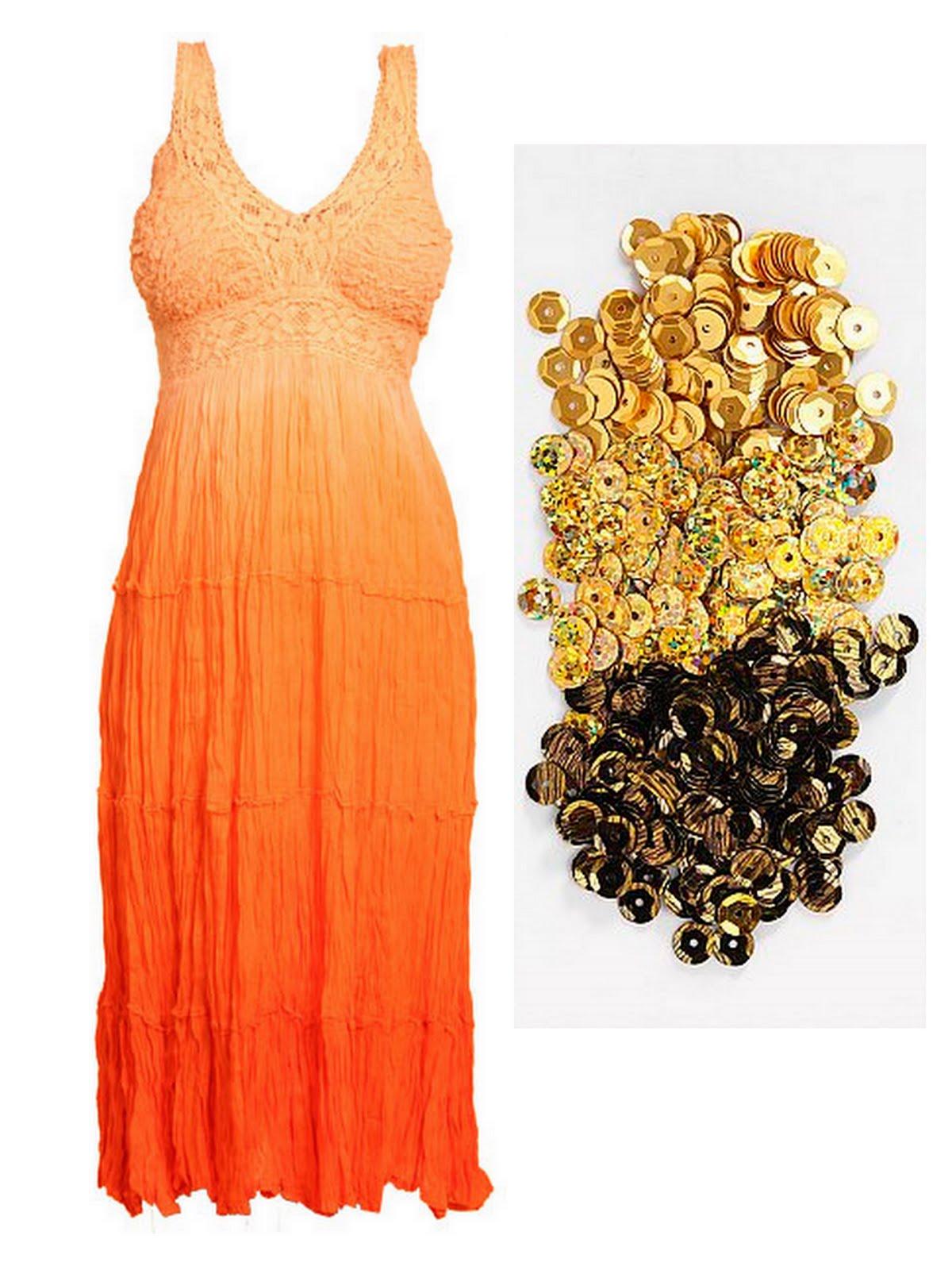 2fc6e85a38b9 Ih jeg har sådan en lyst til (stærkt inspireret af Stine Goya) at fine  noget batik tofarvet og sy pailletter på. Det må gerne være noget orange