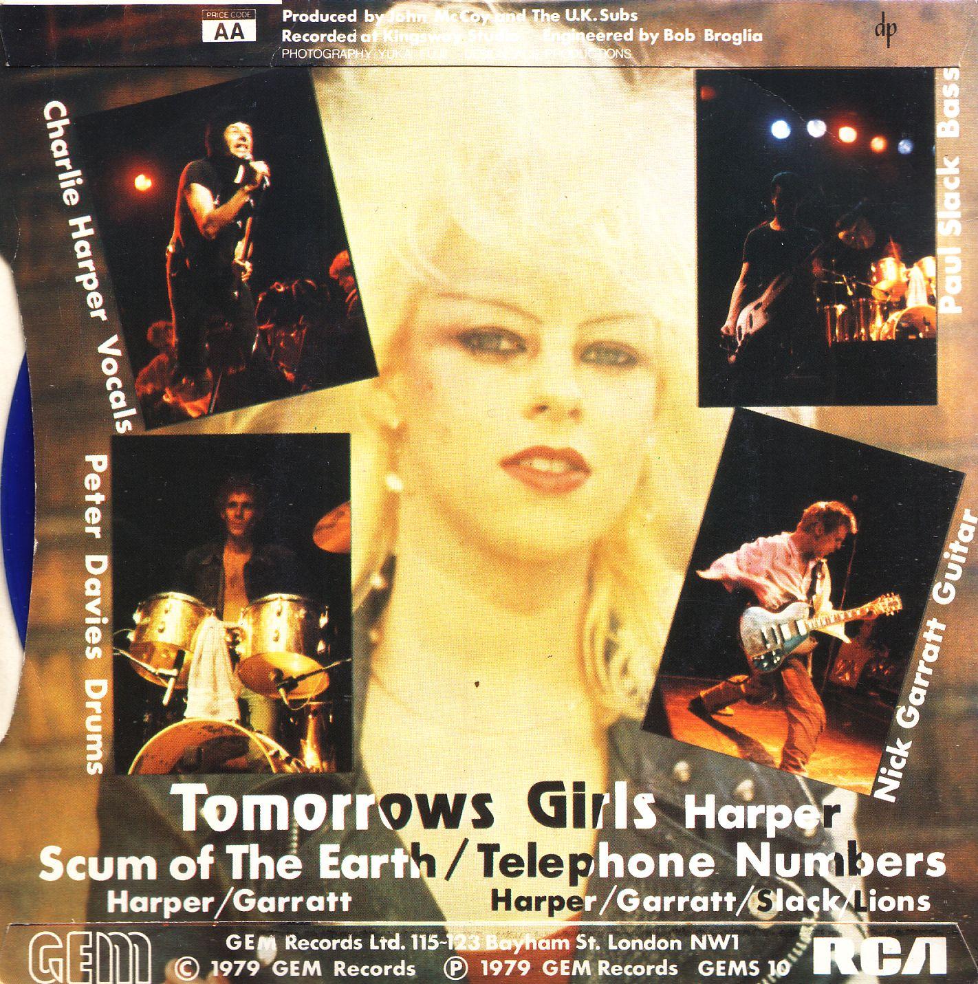 Too Short A Life U K Subs Tomorrow S Girls 1979 7