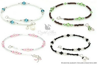 Crystal Beaded Anklets by Crystal Allure Beaded Jewelry