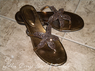 Bronze Starfish Sandals -Image by Crystal Allure Beaded Jewelry Creations