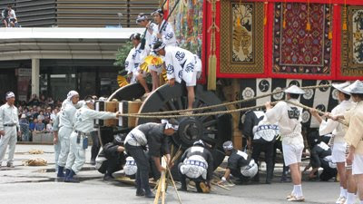 Traveling and Festival Gion Matsuri in Kyoto Japan