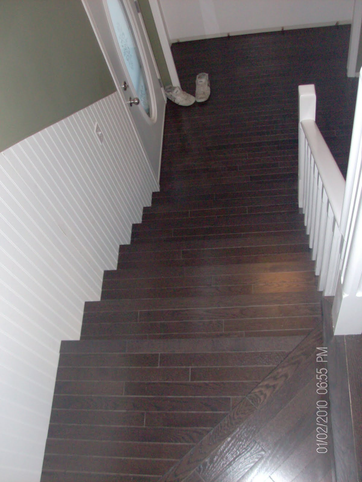 Hardwood Solutions Lethbridge Dark Walnut Stained Oak Stairs