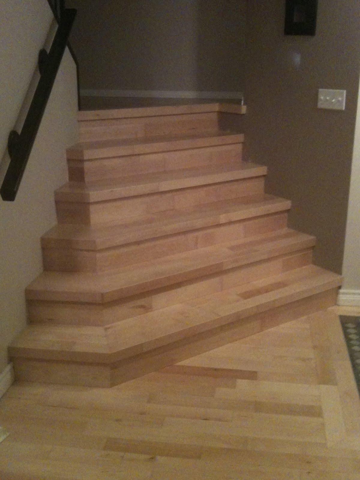 Hardwood Solutions Lethbridge Prefinished Maple Stairs