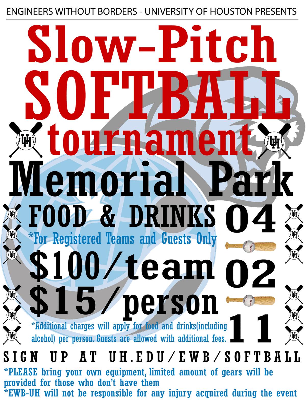printable softball flyer template editable