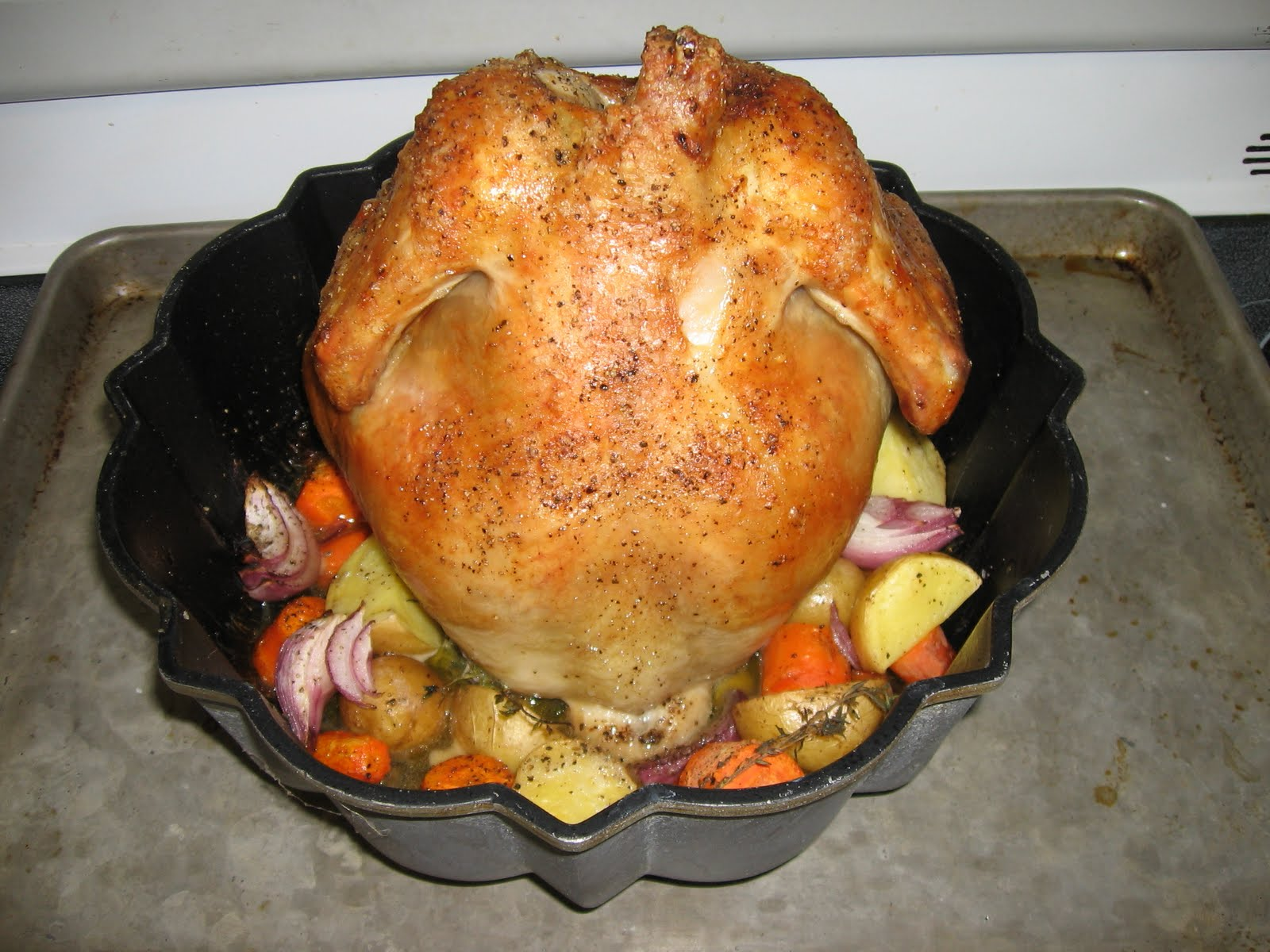 The Errant Cook Bundt Pan Roast Chicken