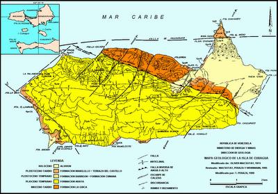 Mapa Geológico de Cubagua.
