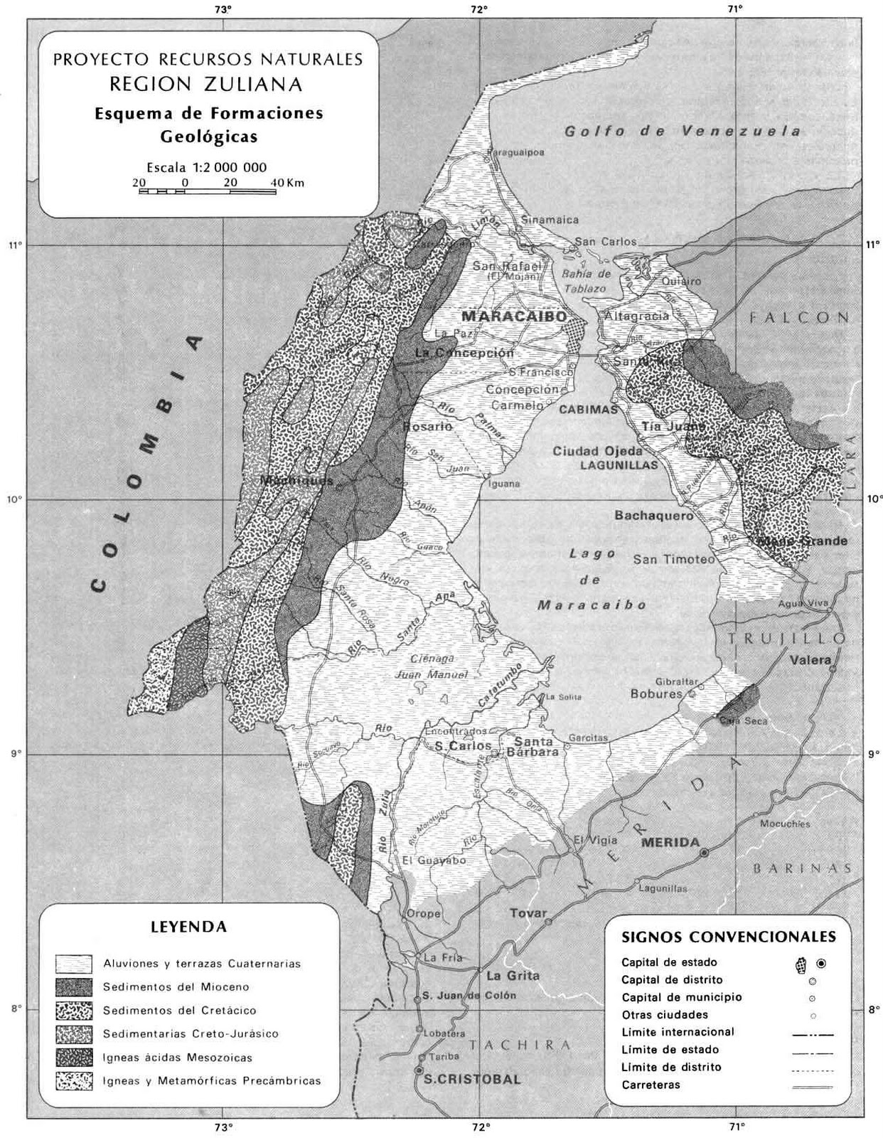 Recursos Naturales Del Estado Zulia | geolog 237 a venezolana mapas
