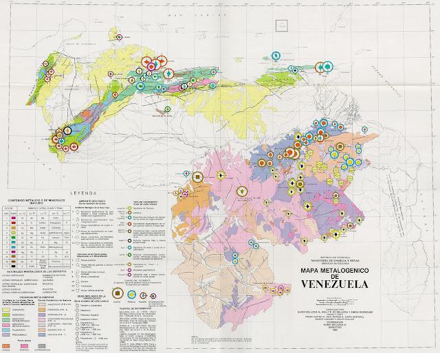 Mapa Metalogenico de Venezuela