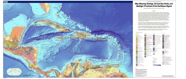 Mapa Geológico del Caribe.