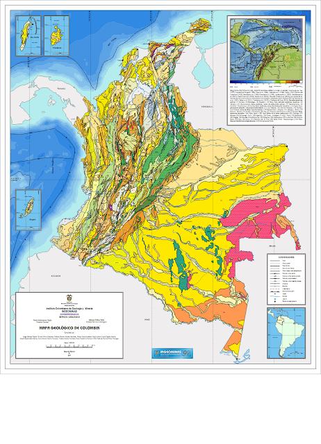 Mapa Geológico de Colombia