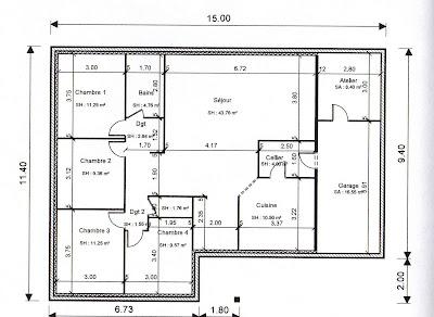 BABEAU SEGUIN DIJON construit notre future maison: Plan de l'aménagement interieur