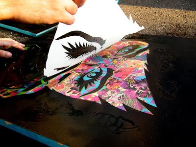 PHOTOS: Progress Shots of Upcoming Stencil Art Pieces ...