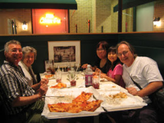 The pizza was excellent at Pepe's at Mohegan Sun