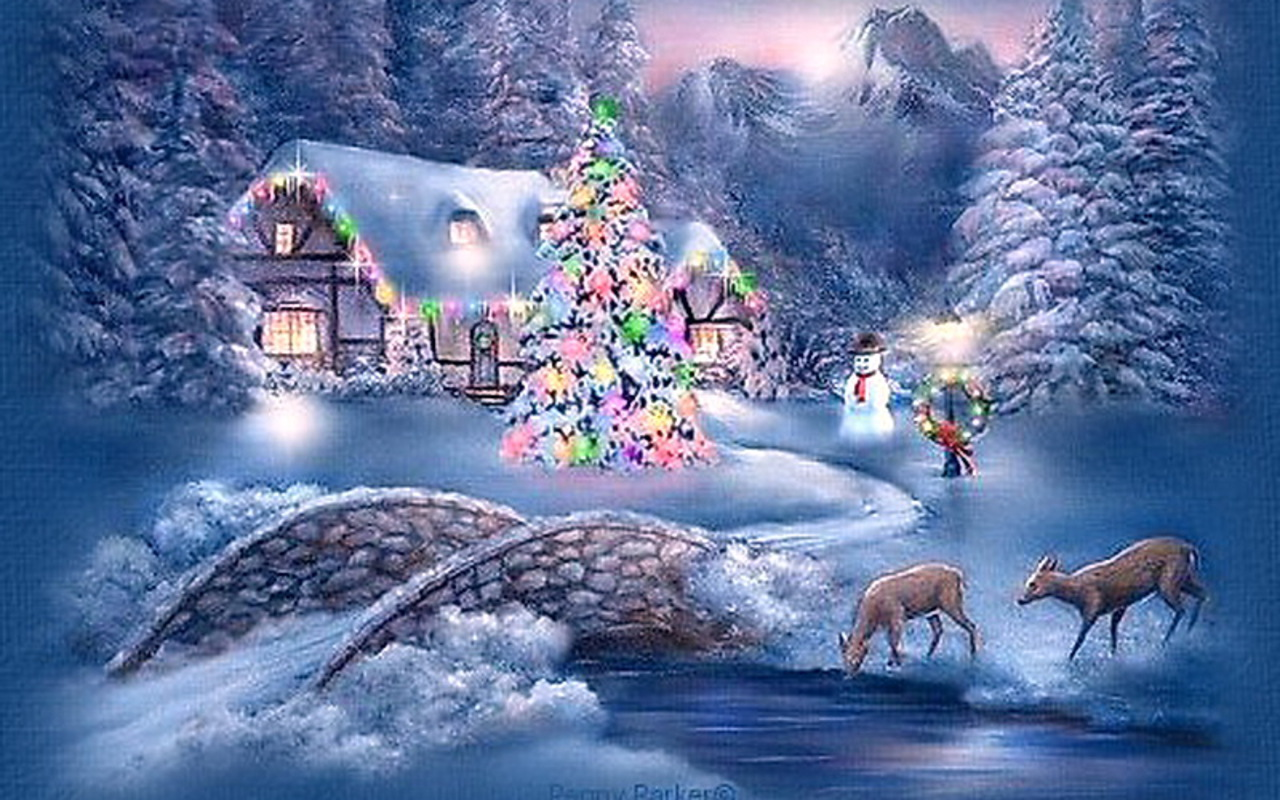 Winter Christmas Backgrounds: Christmas Wallpaper, Desktop