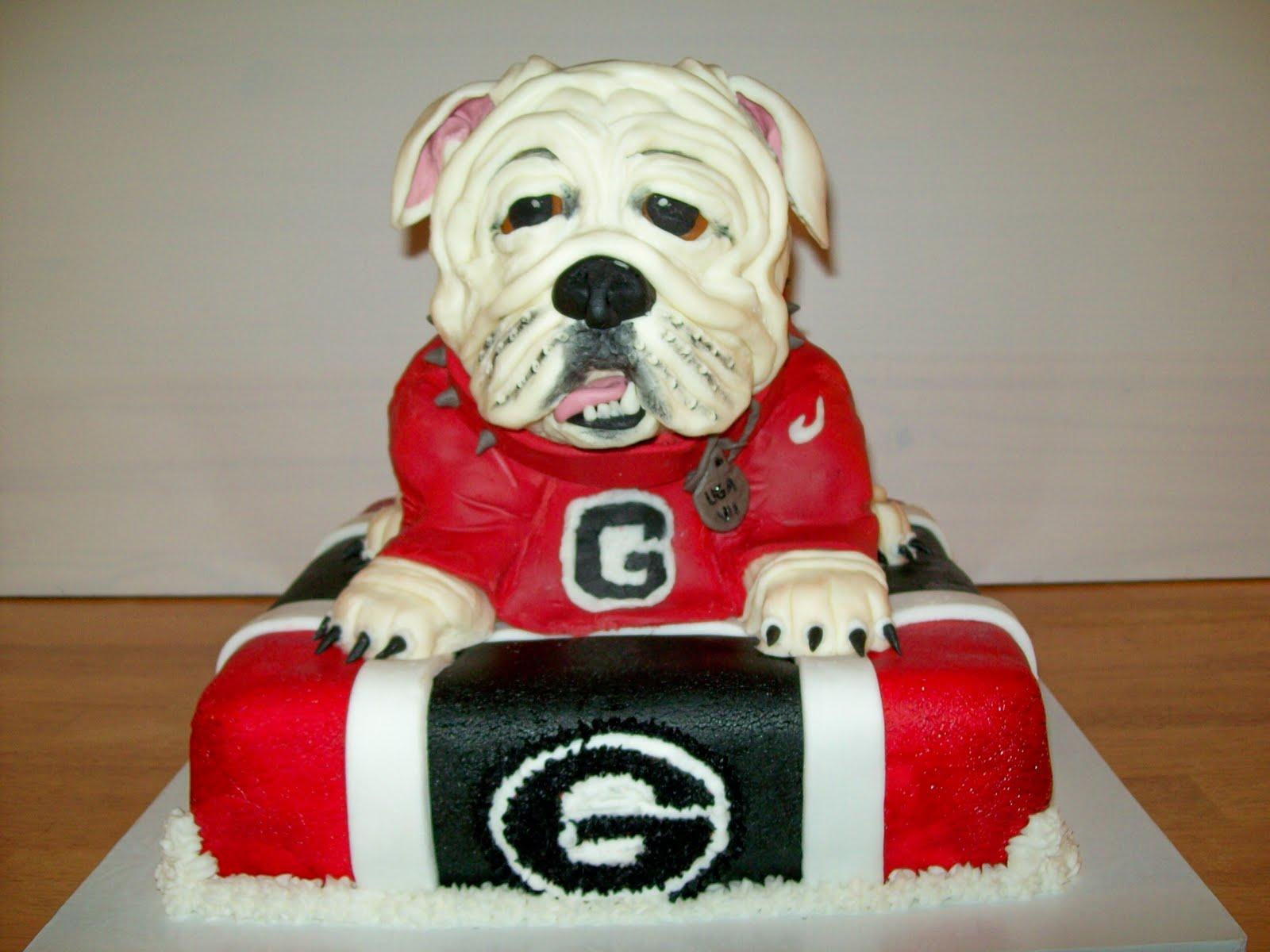 Maysie Mae S Signature Cake Design 3d Ga Bulldogs Uga Vii