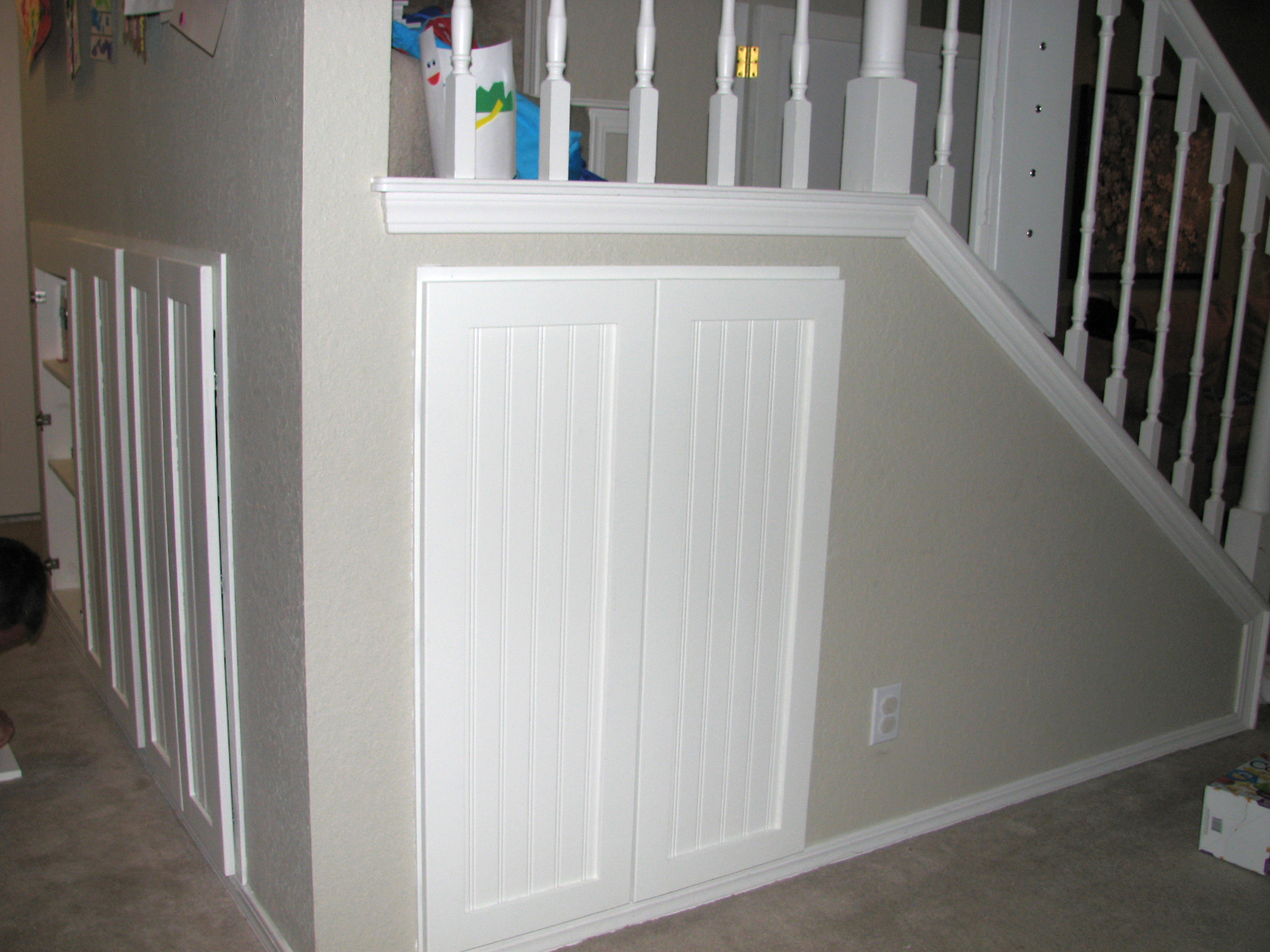 Lighting Basement Washroom Stairs: Clever Faeries: Home Design: Under The Stairs Storage