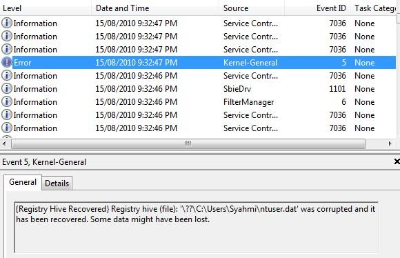 Recover Corrupted User Registry Hive   Write code