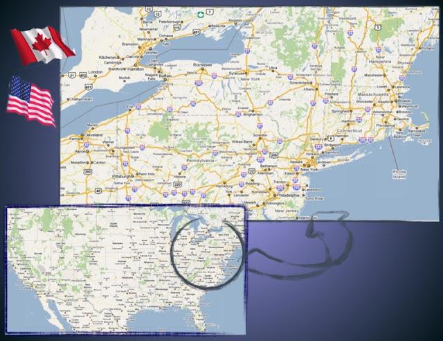Mapa costa este EEUU