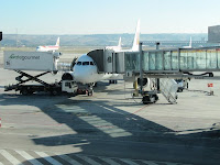 Esperando el avión...