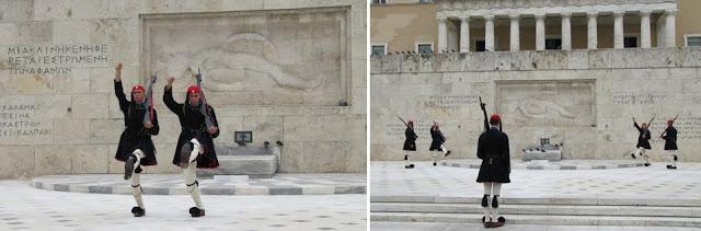 Cambio de guardia en el Parlamento de Atenas