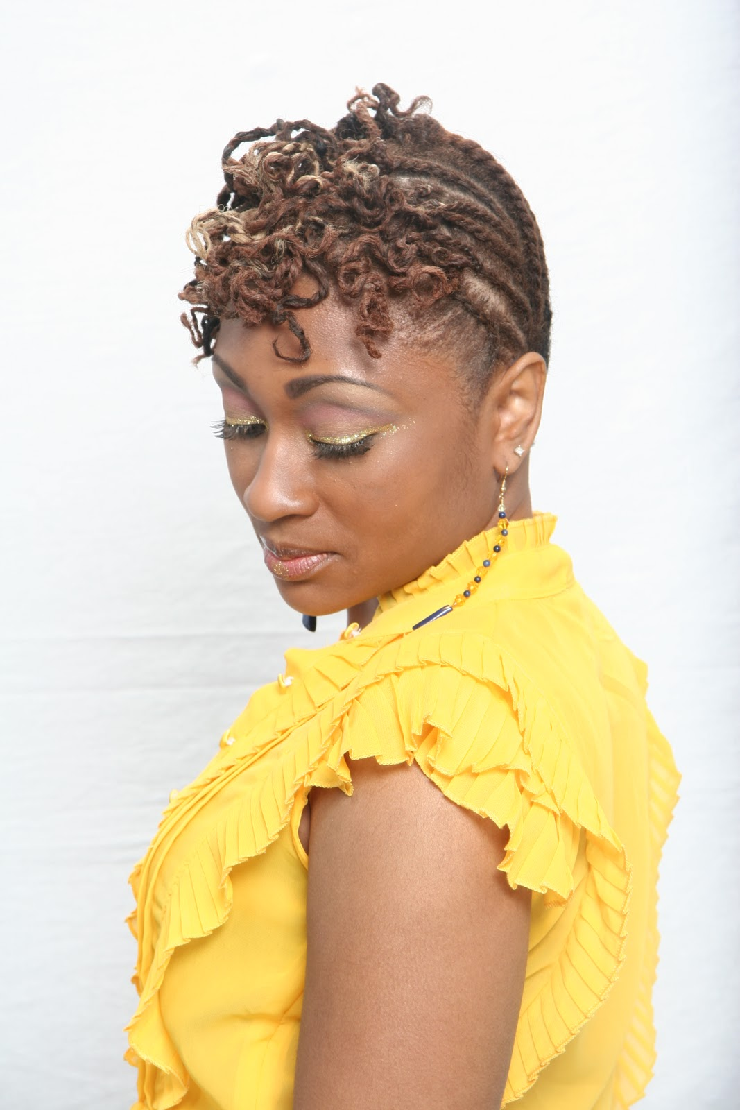 African American Natural Updo Hairstyles