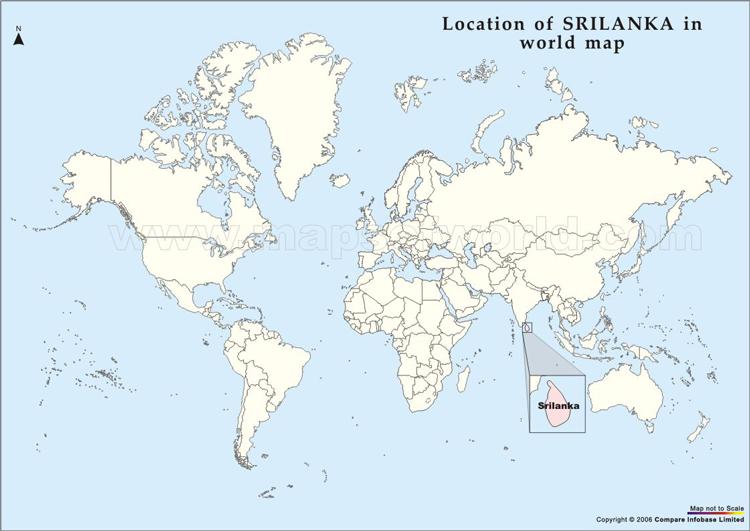Cartina Topografica India.Sri Lanka Dove Si Trovo Lo Sri Lanka Nel Mappa Mondo