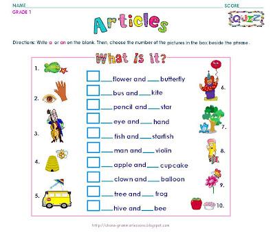 English Grammar: Grammar Worksheets