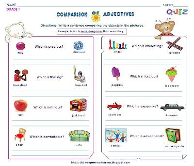 Comparative - Superlative (more - the most) in English